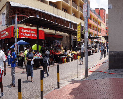 camera operator, Docu-panorama or Datarama by Doerte Engelkes, Visual Anthropology. Pretoria Street in Hillbrow